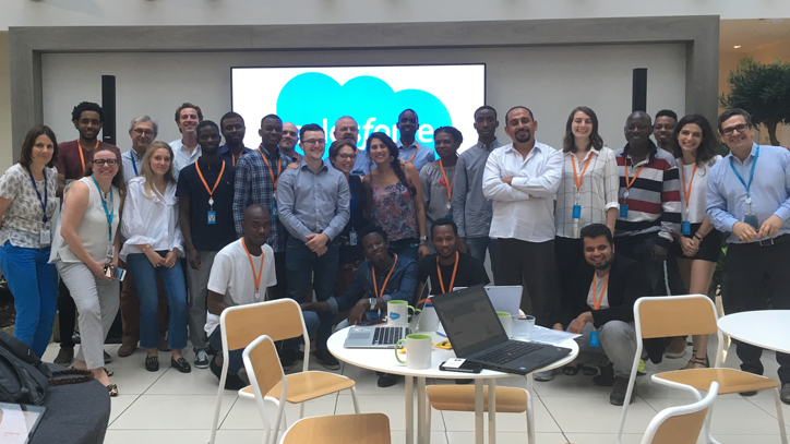 Salesforce and Konexio team at a Salesforce workshop